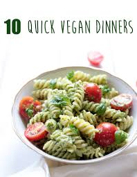 10 quick vegan dinners vegan pesto pasta green evi