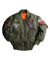 youth motorcycle jacket alpha industries youth ma 1 flight jacket with patches u2013 sage