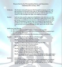 christmas blessing and prayer for 2013 presentation sisters
