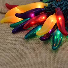 red chili pepper lights red green yellow and purple chili pepper string lights 10 lights