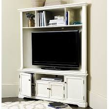 Display Hutch Reston Corner Media Console W Hutch Ballard Designs