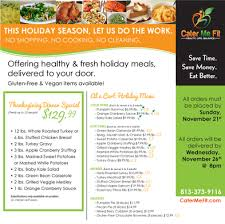 thanksgiving dinner to go in ta restaurants florida chowhound