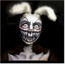 Halloween Makeup Clown Faces by Evil Rabbit Halloween Makeup Pinterest Rabbit Halloween