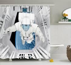 cosmic salle de bain achetez en gros astronaute tissu en ligne à des grossistes