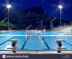Pool At Night Switzerland Ticino Lugano Lido Swimming Pool Swimming Pool