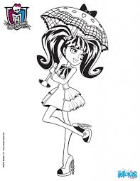 monster high coloring pages draculaura fablesfromthefriends com