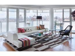 Two Sofa Living Room Modern Dining Chair Red Coffee Table Blu Dot Sofa Black Window