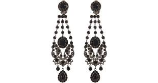 Black And Silver Chandelier Earrings Givenchy Victorian Style Chandelier Earrings In Black Lyst