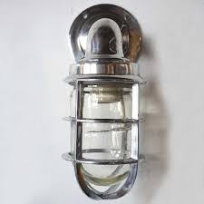 Industrial Guard Sconce by Vintage Style Industrial Aluminum Caged Bracket Ship U0027s Passage Sconce
