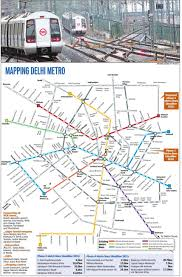 New Delhi Metro Rail Map by 2016 Metro Plan Delhi Talk