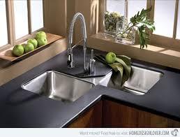 Pretty Corner Kitchen Sinks Contemporary Sinksjpg Kitchen Eiforces - Designer sinks kitchens