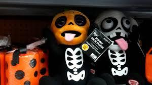 pumpkin skeleton funny face plush walmart halloween 2016 youtube