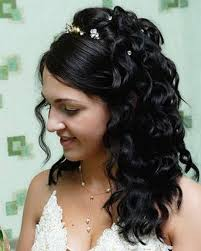half down with flower popular long hairstyle idea