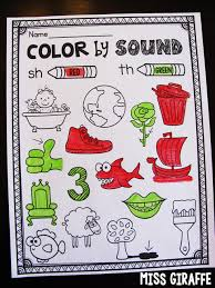 color by digraph worksheet and other fun digraphs worksheets that