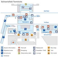Airport Terminal Floor Plans by Schönefeld Airport Terminals Full Size