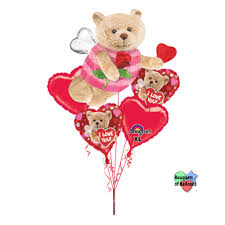 valentines balloons s day balloons i you bee bouquet of