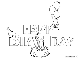 free printable happy birthday coloring pages funycoloring
