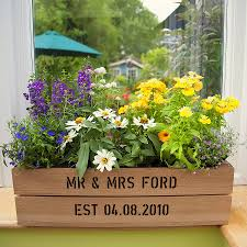 Window Sill Planter by Personalised Window Box Planter Crate Window Boxes Planters And