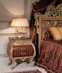 louis xv style bedside table walnut rectangular emperador