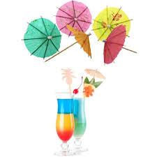 birthday cocktail 50pcs lot mini umbrella tropical parasol umbrella cake decorating
