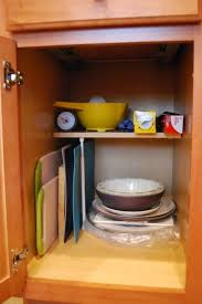 cutting kitchen cabinets kitchen cabinet cutting board storage the borrowed abode use a