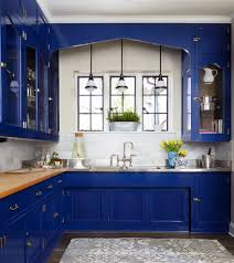 good looking bright blue cabinets kitchen traditional with dark
