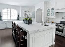 White Kitchen Island Dark Cabinets White Finish Curved Chery Wood