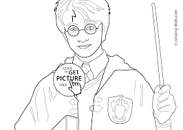 harry potter coloring page free printable harry potter coloring
