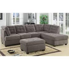 madison home tufted sofa luxury 2 piece modern large tufted grey microfiber sectional sofa