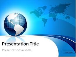 powerpoint template world download free blue 3d globe and world