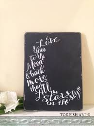 I Love You To The Moon And Back Personalized Necklace I Love You To The Moon And Back Chalkboard Wood By Toefishart