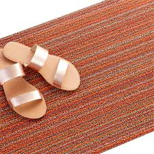 Chilewich Outdoor Rugs by Chilewich Doormat Orange U0026 Chilewich Shag Indoor Outdoor Doormat