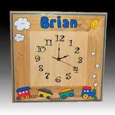 Personalized Picture Clocks Personalized Wooden Wall Clock Clocks For Kids