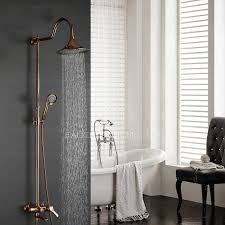 antique gold brass elevating outdoor bathroom shower faucets