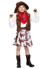 amazon com cowgirl costume u0027s cow costume age 7 9 toys u0026 games