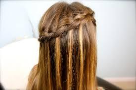 cute girl hairstyles diy waterfall braid diy cute girls hairstyles
