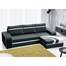 canapé polyester canapé angle droit convertible en tissu polyester noir flores