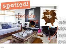 Cowhide Rug In Living Room Spotted Cowhide Rug Tuvalu Home
