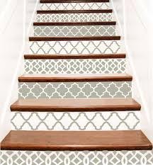 decorative vinyl stair tile decals trellis decor steps riser