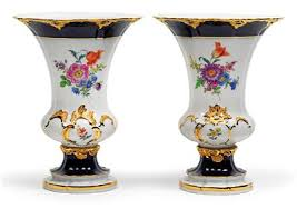glass and porcelain a pair of ornamental vases dorotheum