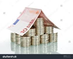 money house made lots coins euro stock photo 37182577 shutterstock