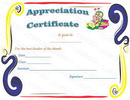 sample text for certificate of appreciation blank certificates of appreciation templates