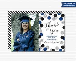 graduation thank you cards printable grad thank you card graduation thanks digital photo