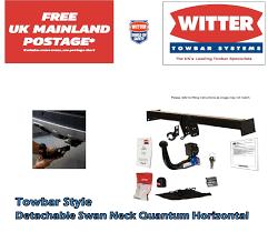 genuine witter hn61aq detachable towbar for honda civic hatchback