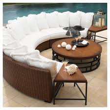Round Sectional Patio Furniture - exterior interesting outdoor and indoor furniture design with