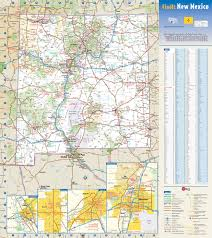 Detailed Map Of Mexico by Large Detailed Roads And Highways Map Of New Mexico State With