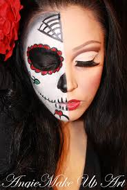 half face halloween makeup ideas 47 best halloween make up images on pinterest halloween ideas