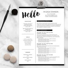 resume template for ms word and pages hello 1 u0026 2 page