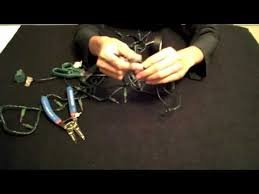 how to shorten christmas lights u0026 remove the top plug youtube