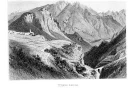 Rugged Cliff Synonym Titian Country Josiah Gilbert 1814 U20131893 And The Dolomite